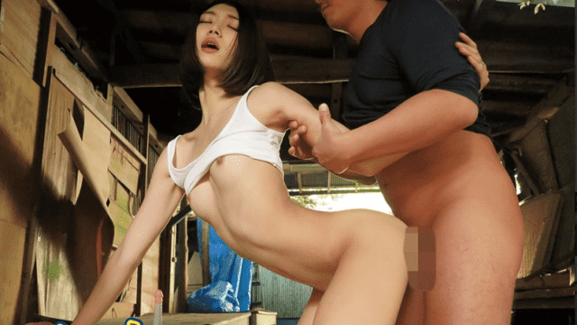 Beautiful young wife have sex outdoor